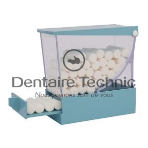 Distributeur de coton salivaire bleu - ZIRC