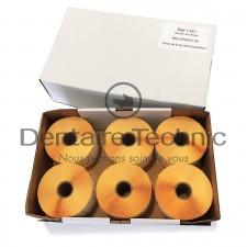 Pack 6 Rouleaux 900 étiquettes Double Encollage Melaprint 60 - MELAG