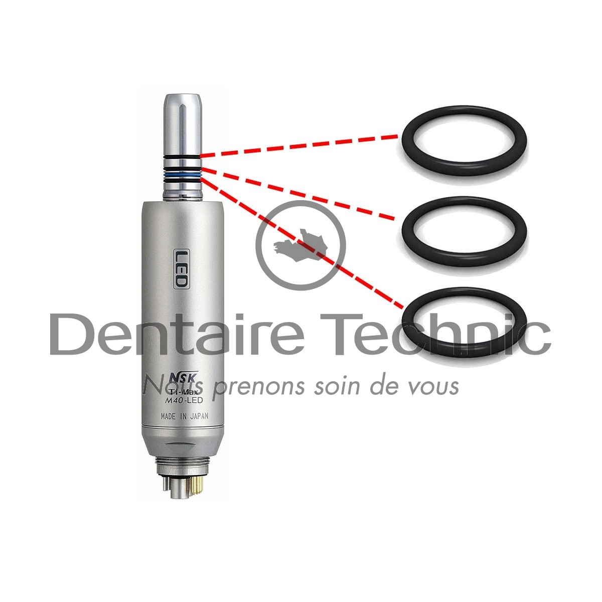Joints micro-moteur M40 / M40Led (x3) - NSK